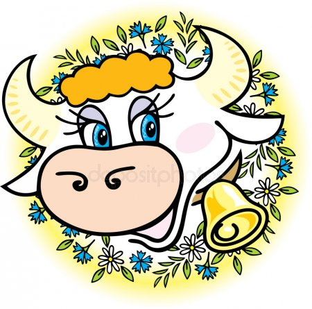 Depositphotos 3344732 stock illustration a good cow in flowers